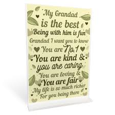 details about thank you gift for grandad standing plaque birthday fathers day gifts for dad