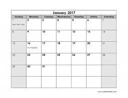 calendar 2017 template printable printable online calendar 2017 monthly calendar printable templates gallery