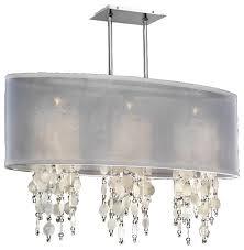 33 w oval shaded capiz shell and crystal chandelier soho