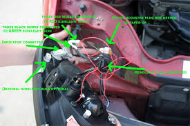 sonar headlights wiring diagram sonar image wiring how to guide fitting and wiring mk2 angel eyes saxperience on sonar headlights wiring diagram
