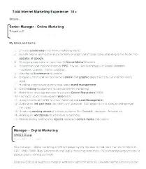 Digital Marketing Resume Sample Marketing Sample Resumes Sales And ...