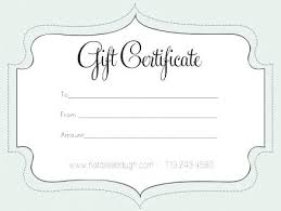 Custom Gift Certificate Templates Free Professional Gift Certificate Template