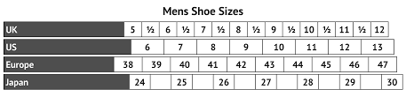 Sim Size Chart Style 6700 Black Sim Croc