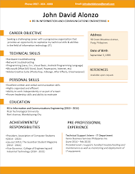 Resume Format And Example