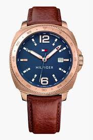 tommy hilfiger mens ogue leather watch th1791431 pers stop