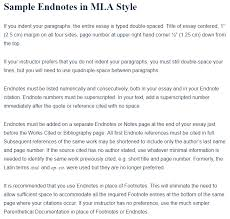 How To Cite A Quote From A Person Stunning Sample Endnotes In MLA Style A Research Guide For Students