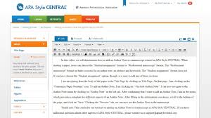 Tutorial Thursday Adding An Author Note In Apa Style Central Apa