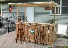 pallet bar. this wooden pallet bar is made with the and it also terrace because will have a lot of protect you from sun can keep