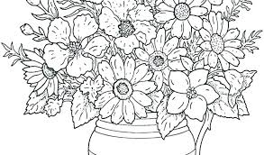 Advanced Coloring Pages Flowers Jumppartyorg