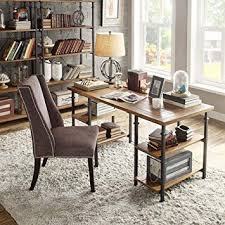 tribecca home furniture. TRIBECCA HOME Myra Vintage Industrial Modern Rustic Oak Wood Home Office Computer Study Or Writing School For Tribecca Furniture