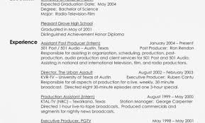 Tv Production Resume Examples Production Resume Template Producer Resume Examples Resume