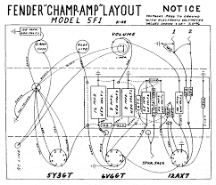 fender layout diagrams fender champ 5f1 layout diagram