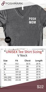 Unisex Cotton T Shirt Size Chart Posh Mom Crew Neck Tee Shirt Tee Is A Unisex Fit Please
