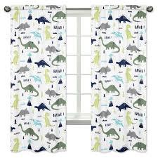 sweet jojo designs window panels blue