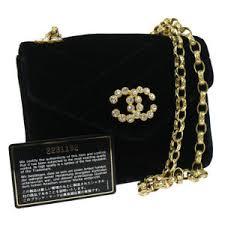 Authentic CHANEL Quilted Chain Shoulder Bag Black Velvet Vintage ... & Image is loading Authentic-CHANEL-Quilted-Chain-Shoulder-Bag-Black-Velvet- Adamdwight.com