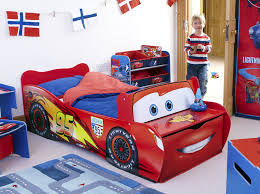 Lightning Mcqueen Bedroom Furniture Disney Cars Lightning Mcqueen Kids Toddler Bed By Hellohome