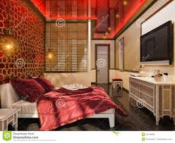 Traditional Islamic House Design 3d Render Bedroom Islamic Style Interior Design Stock Photo