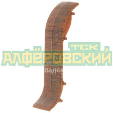 Плинтус 111 Орех американский <b>соединитель T-Plast</b>, <b>58</b> мм (50 ...