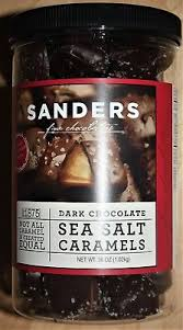 sanders dark chocolate sea salt caramels 36 oz fine chocolate candy free ship