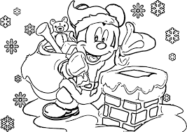 Small Picture Printable Disney Christmas Coloring Pages Mickey Mouse Christmas