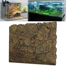 new 3d foam rock reptile aquarium fish tank background backdrop diy decoration 24 39 39 x 18 39 39 com