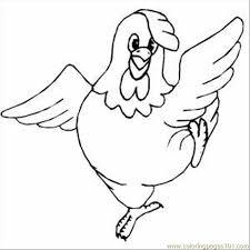 Chicken Coloring Pages Printable Chicken Color Page Animal Clip