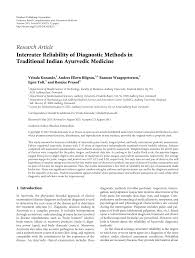 Interrater Reliability Of Diagnostic Methods In Traditional