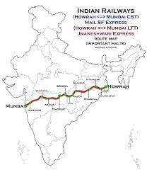 Indian Railway Route Chart Howrah Nagpur Mumbai Line Wikipedia
