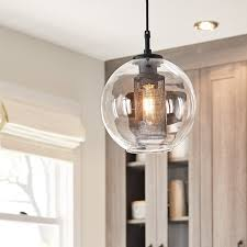 Nautical Globe Pendant Light Edmund 1 Light Mini Pendant Satin Black Kichler Lighting