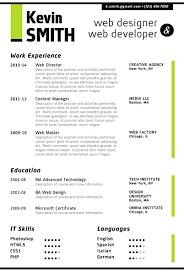 Web Designer Resume Best 8710 WEB DESIGNER Resume Template Trendy Resumes