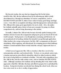 essay about teacher my best teacher essay