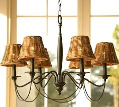 chandeliers chandelier with lamp shade chandeliers shades graham wicker 9 burlap chic mini crystals