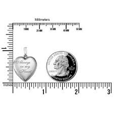 locket size photos picturesongold com always in my heart silver heart locket pendant