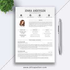 Student Resume Template Word 2019 Editable Clean Cv Design Cover Letter Modern And Simple Resume Design Instant Download Mac Or Pc Jenna