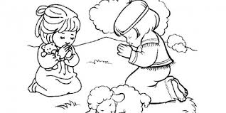 Small Picture Little Girl Praying Coloring Page Bebo Pandco