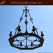 meval wrought iron chandelier hand forged in original craft lc335