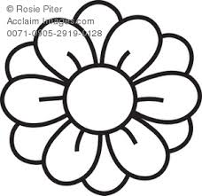 Small Picture Clipart Illustration of a Flower Coloring Page Drawing
