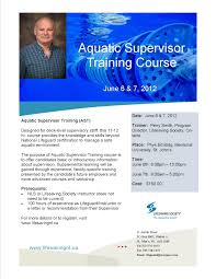 aquatic supervisor training the lifesaving society is a full flyer share a friend