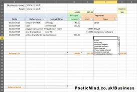 Bookkeeping For Self Employed Spreadsheet And Construction Schedule