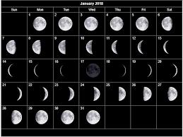 January 2018 Moon Phases Calendar Max Calendars