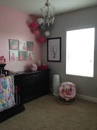 pink nursery furniture. pink and gray nursery white furniture instead of black e