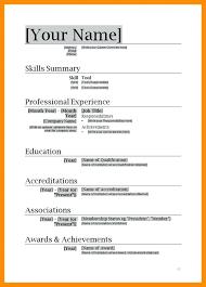 Resume Templates For Microsoft Office Emelcotest Com