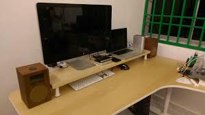 10cm lift desk shelf monitor stand ikeahackers net