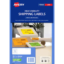 Avery Signalling Labels Fluro Green 25 Sheets 16 Per Page