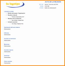 Formato De Agenda De Reuniones Unique Modelo De Acta De
