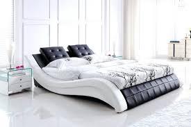 white wooden bed frame king size metal hemnes mattress full headboard platform home improvement excellent mattre