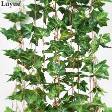 luyue official home decoration 2 6m artificial leaf garland plants vine fake foliage flowers fake green plant in artificial dried flowers from home