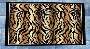 tiger print cowhide rug faux