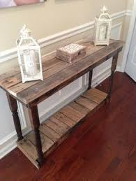 front hallway table. DIY Pallet Foyer Table | Furniture Front Hallway