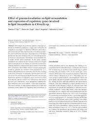 Pdf Effect Of Gamma Irradiation On Lipid Accumulation And